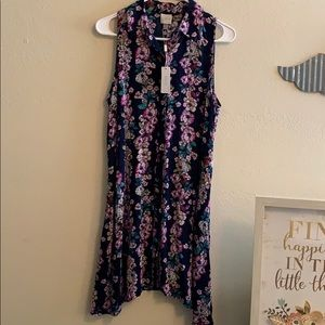 NWT Cupio floral tunic dress
